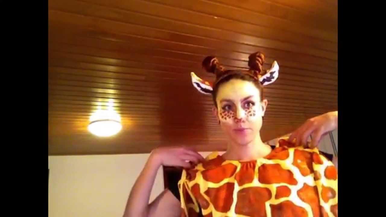 sc 1 st  YouTube & Giraffe Costume - Make up - YouTube