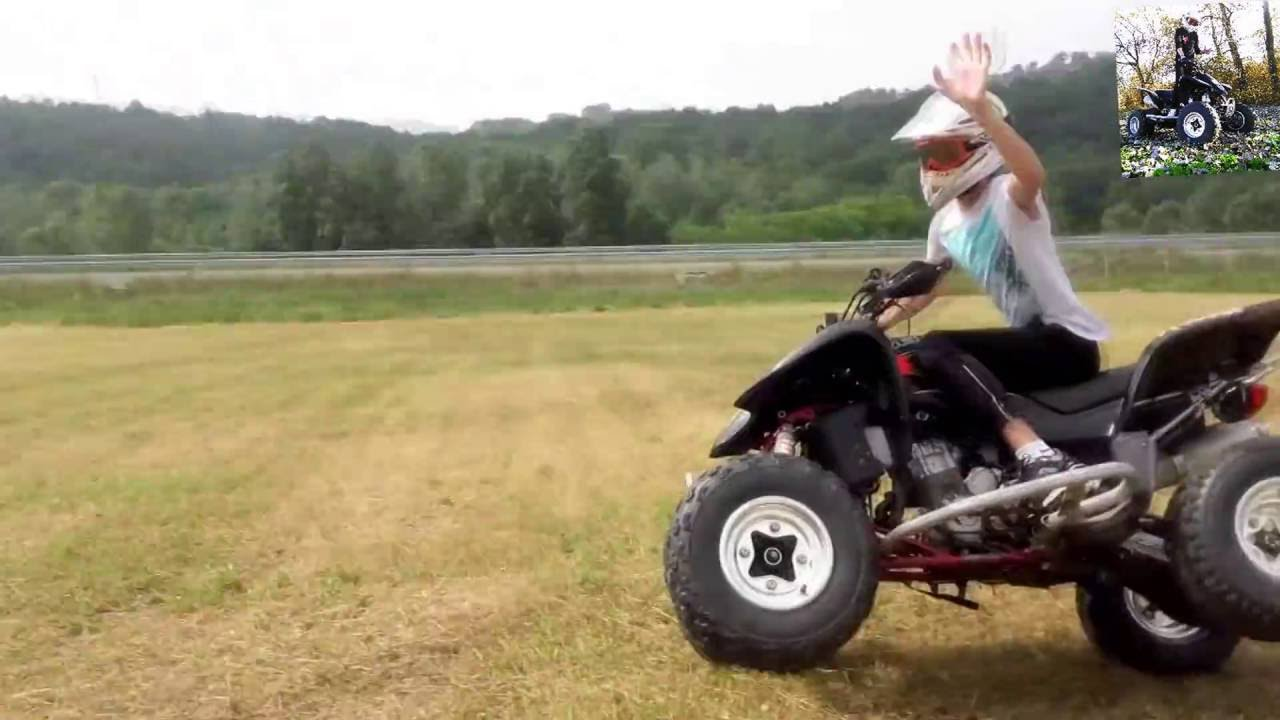 Suzuki Ltz 400 Quad Atv Riding Wheelie 1080p Hd Youtube