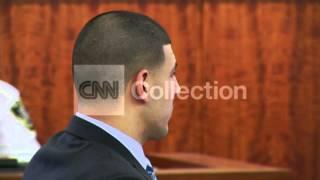 AARON HERNANDEZ IN COURTROOM - TUESDAY