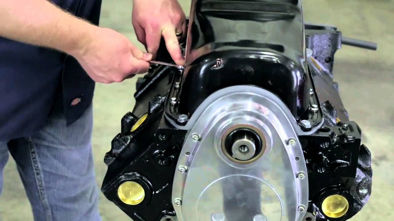 [DVZP_7254]   Small Block Chevy Engine Build: Oil Pan and Pump (Part 2) - YouTube | Chevy 350 Engine Schematic |  | YouTube