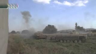 Эпизод одного боя... Попадание РПГ в танк.