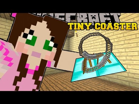 Get Minecraft: TINY ROLLER COASTER (SMALLEST COASTER YOU CAN RIDE!!) Custom Command Pictures