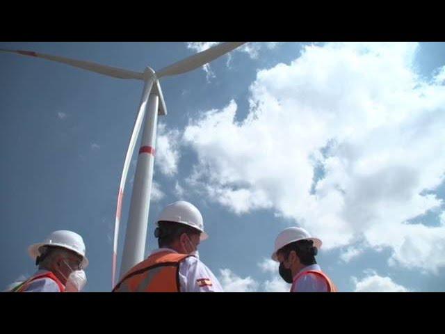 Supervisa Gobernador el primer proyecto de energía eólica en el estado
