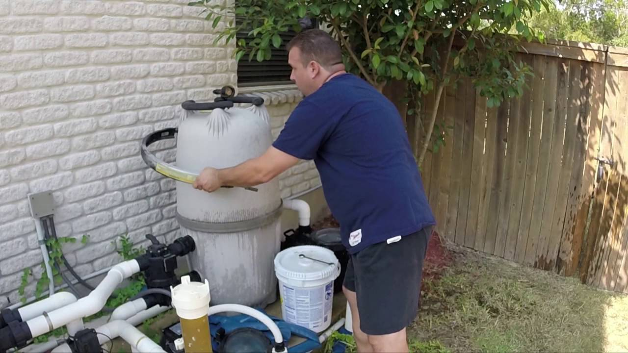 how to clean a jandy del 60 de pool filter part 1 youtube