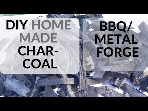 EASY HOMEMADE DIY CHARCOAL FOR BBQ AND METAL FORGE