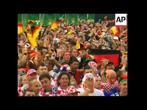 Fans watch Croatia v Germany in Euro 2008, post-match reax