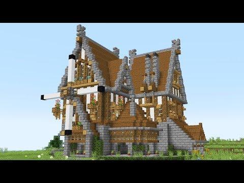Огромный ДОМ ИЗ ДЕРЕВА В MINECRAFT (средневековье)