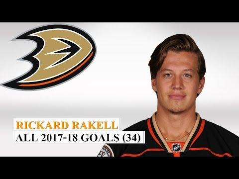 Rickard Rakell (#67) All 34 Goals of the 2017-18 NHL Season