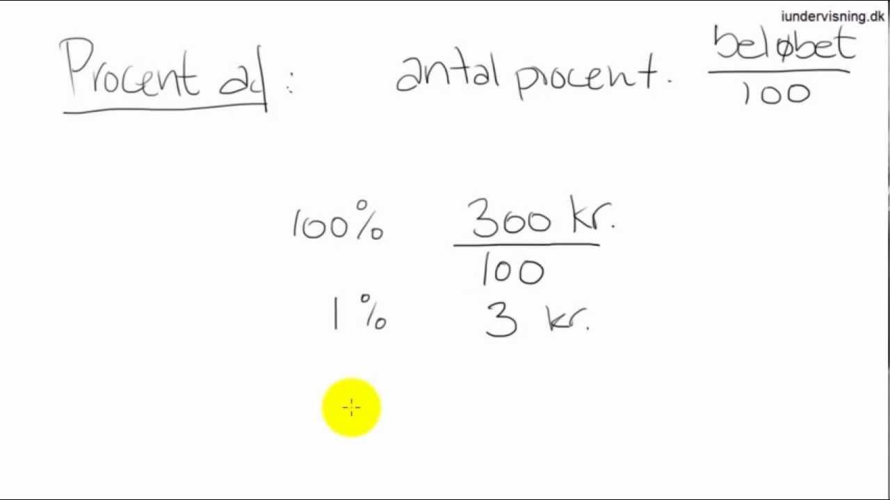 procent af beløb