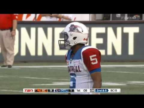 August 4, 2016 - Kevin Glenn 15 yard touchdown pass to BJ Cunningham