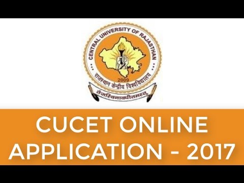 CUCET 2017 Online Application Process