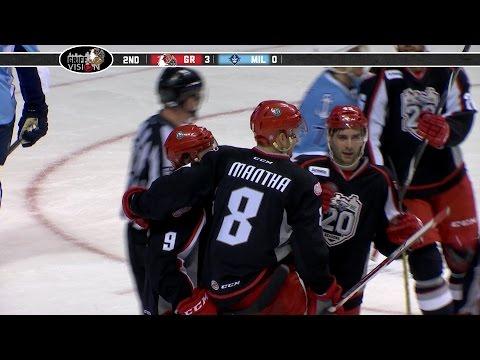 2-17-16 -  Mantha Hat Trick - Grand Rapids Griffins vs Milwaukee Admirals Post Game Highlights