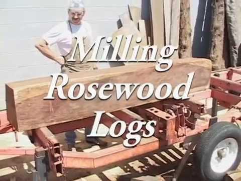 Milling Rosewood Logs
