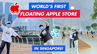 VISITING THE WORLD'S FIRST FLOATING APPLE STORE IN SINGAPORE (OMG AMAZING!!)