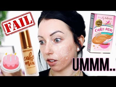 TOTAL FOUNDATION FAIL?? WOW Beauty Bakerie Cake Mix Foundation