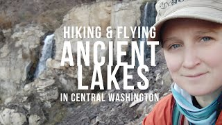 Hiking and Kite Flying in Ancient Lakes, Washington