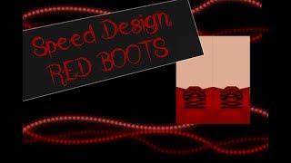 Speed design botas vermelhas II ROBLOX
