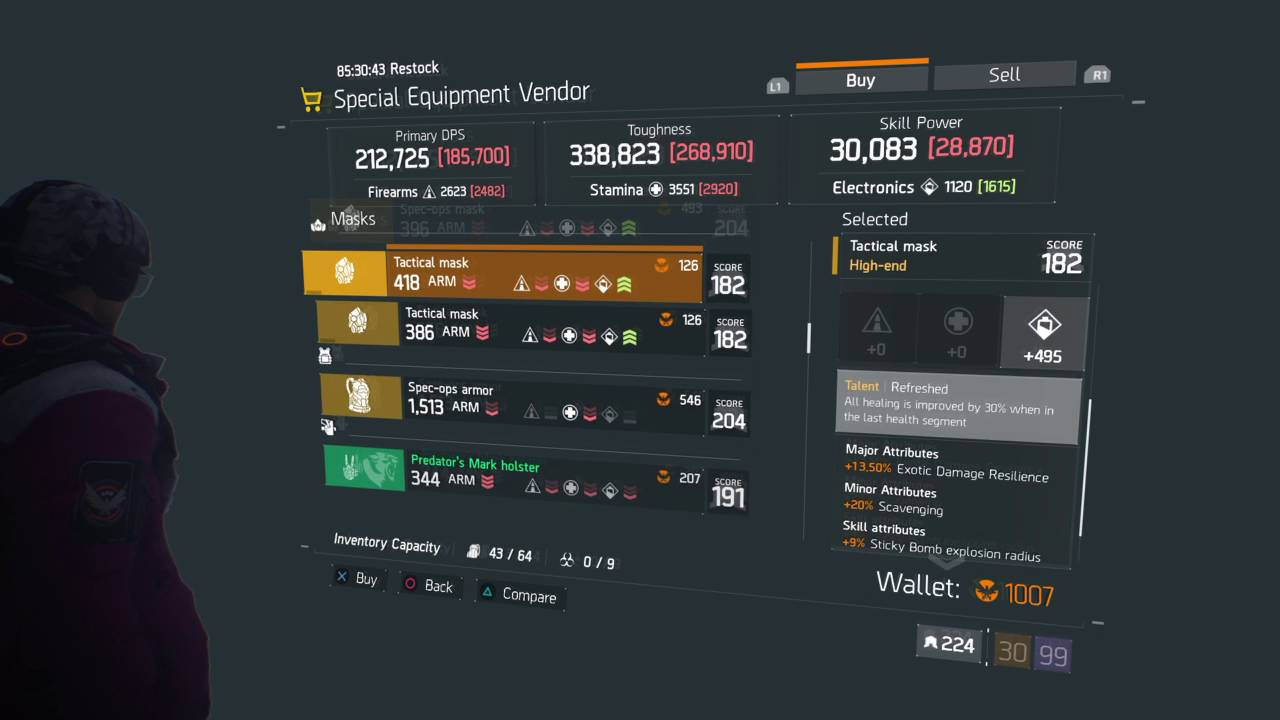 Tom Clancy's The Division: Special Equipment Vendor Items 2016/05/24 1 2  Update (BoO)
