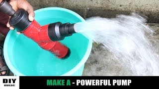 How To Make A Water Pump Using PVC Pipe | Very Simple Water Pump