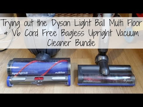 Trying out the Dyson Light Ball Multi Floor & V6 Cord Free