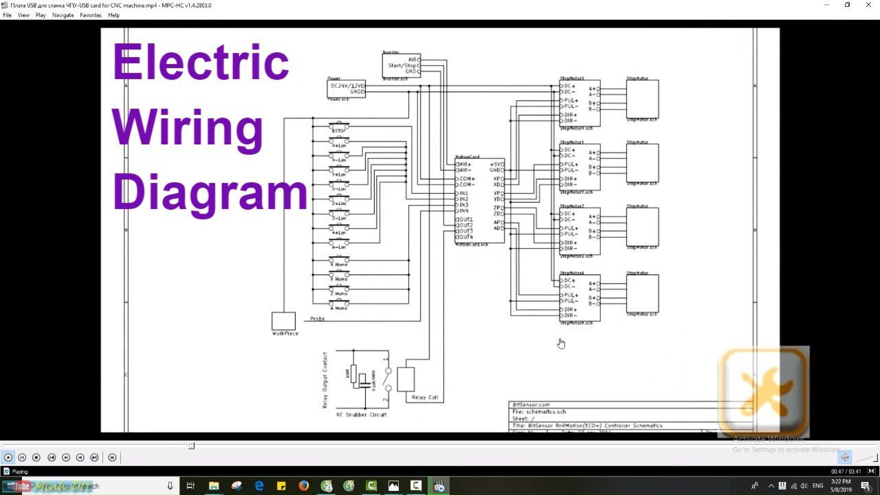 Electric Wiring Diagram For Cnc Usb Mach3