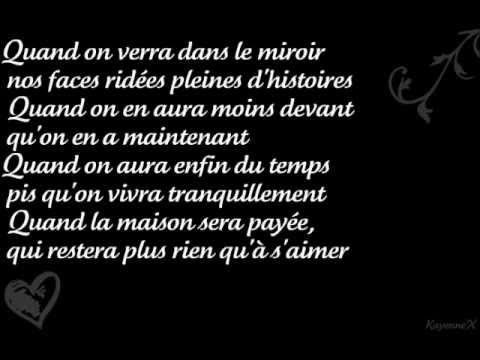 On va s'aimer encore - Vincent Vallieres - Paroles