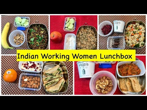 Monday To Friday Indian Lunch Box Ideas For Women /Office || Quick  Vegetarian  Lunchbox Ideas