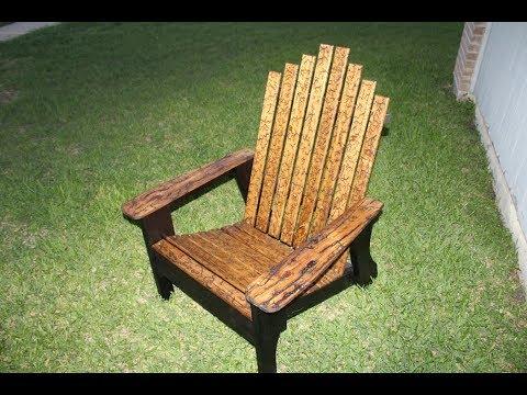 The Fractal Burned with Shou Sugi Ban Adirondack Chair