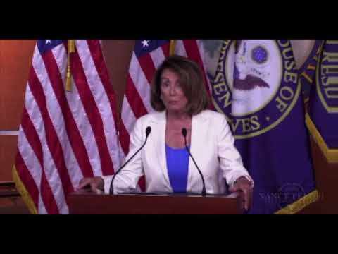 Nancy Pelosi tries out the new Democrat slogan