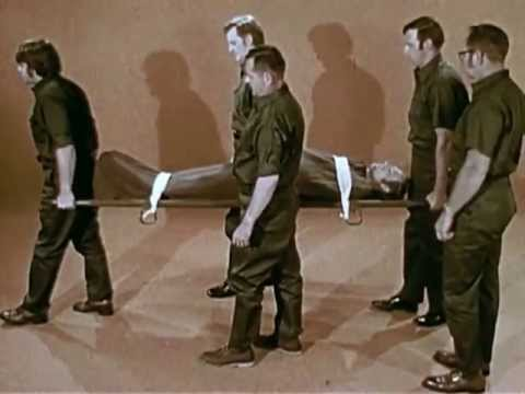 First Aid Training: Transporting Casualties - CharlieDeanArchives / Archival Footage