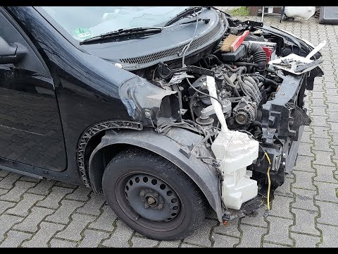 Smart Repair, Stripping down Front section of Smart Forfour Type 454