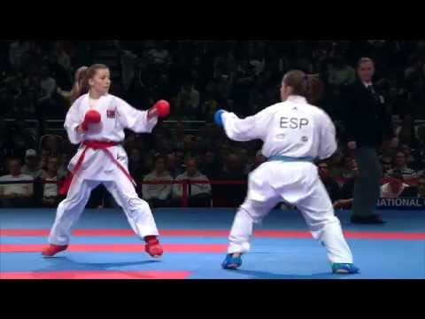 Female Team Kumite SPAIN vs TURKEY (3/3). 2014 World Karate Championships. Bronze Medal