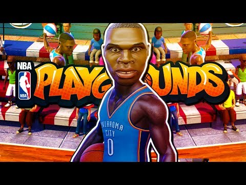 NBA Playgrounds - RUSSELL WESTBROOK! (Gold Pack Opening!)