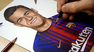 Drawing Philippe Coutinho - Barcelona