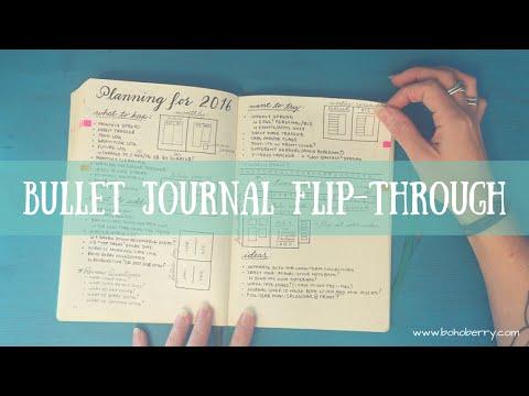 Bullet Journal Flip Through