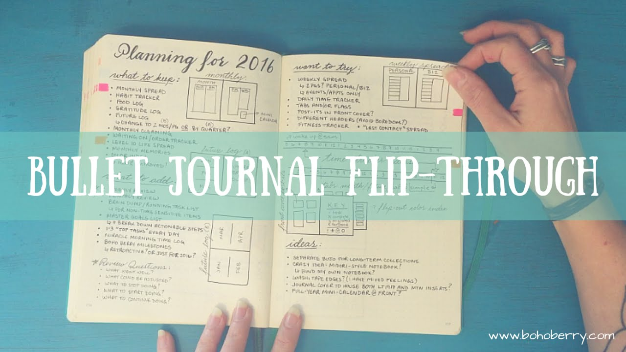 bullet journal flip through youtube. Black Bedroom Furniture Sets. Home Design Ideas