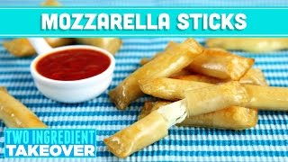 Healthy Mozzarella Cheese Sticks! 2 Ingredients! Two Ingredient Takeover Mind Over Munch