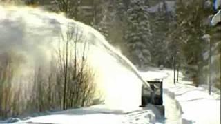 Навесной роторный снегоуборщик, снегомет