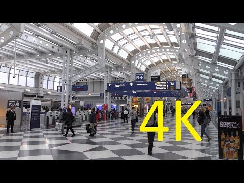 A 4K Video Tour of Chicago O'Hare International Airport (ORD) (Terminals 1-3)