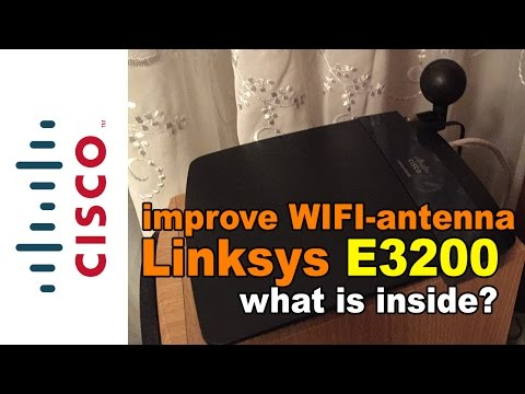 Linksys CISCO E3200 Wifi Router Improve Antenna Signal. Disassembly. Upgrade. Firmware Update