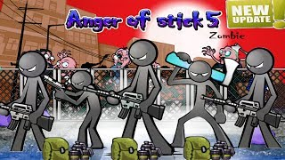 Anger Of Stick 5 UPDATE Defence Mode: All Weapons Unlocked + Grenades HACK 2019 - Android GamePlay#4