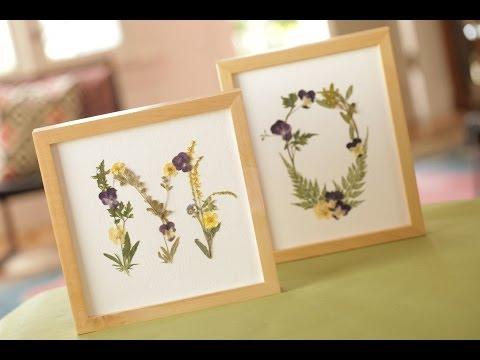 Pressed Flowers DIY