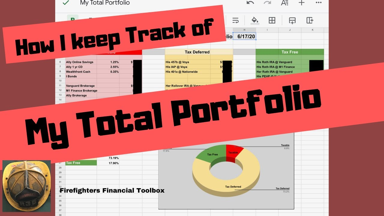 HOW I KEEP TRACK OF MY TOTAL PORTFOLIO  #indexfunds #etfs