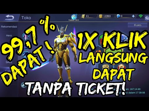 TRICK LUCKY SPIN SKIN SABER - 100% WORK - MOBILE LEGENDS INDONESIA