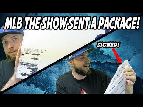 SIGNED CHICAGO CUBS JERSEY! MLB THE SHOW SENT ME A PACKAGE!