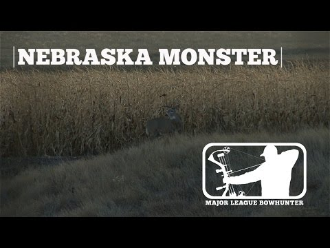 Nebraska Monster Buck - Bowhunting The Rut   Major League Bowhunter