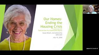 Susan Kirsch on Our Homes: Ending the Housing Crisis
