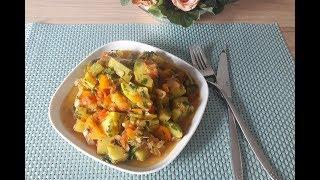 Кабачки. Очень вкусное овощное рагу из кабачков / Блюдо из кабачков
