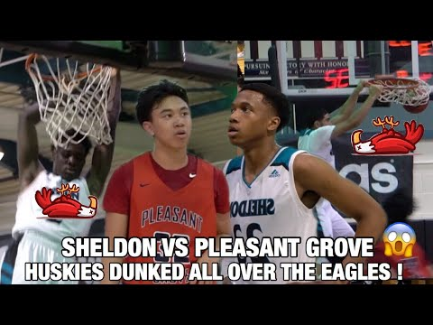 Marcus Bagley DESTROYS THE RIM & Gets CAL OFFER After | Sheldon Vs Pleasant Grove | Crazy Dunk Show