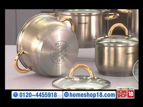 Homeshop18 Com Stainless Steel Cookware Set By